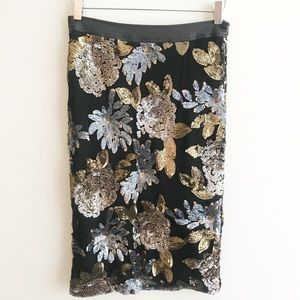 J.O.A. Skirts - Nordstrom JOA Sequin Pencil Midi Skirt